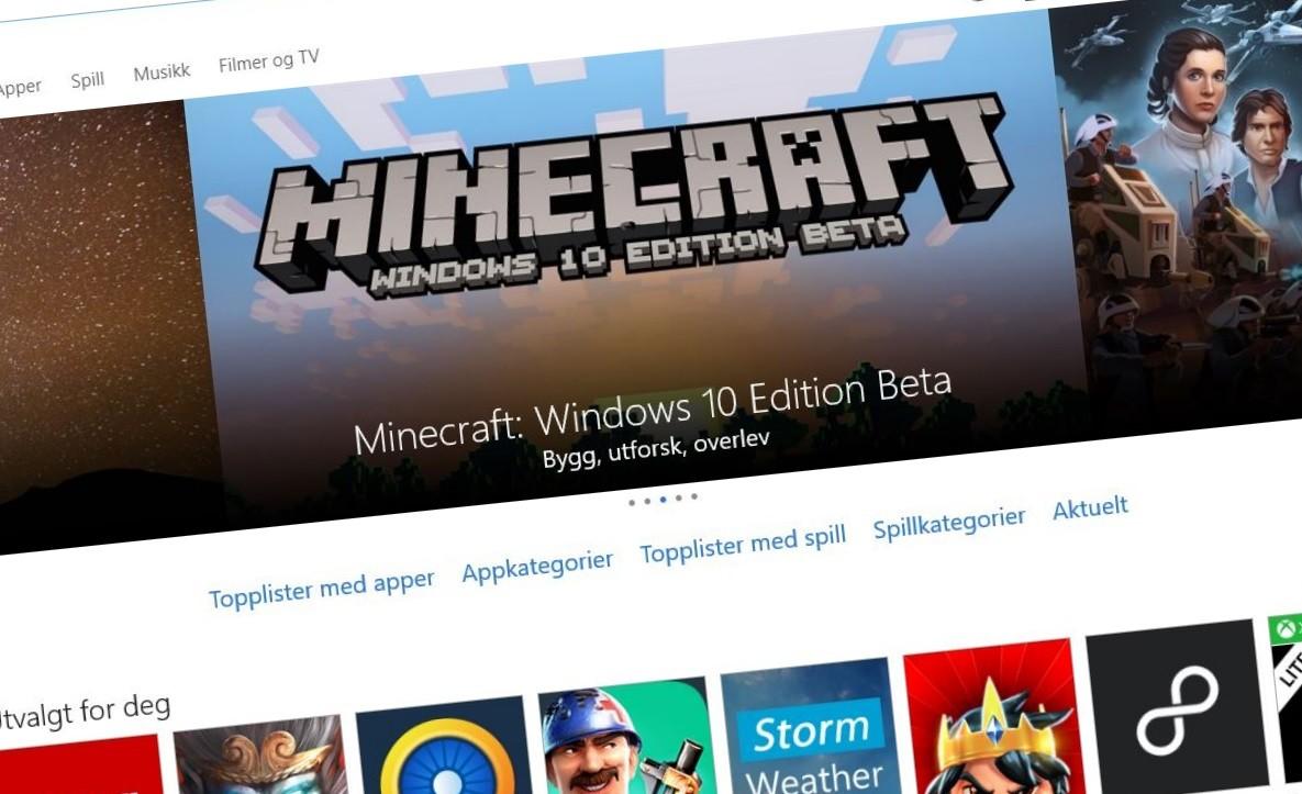 Windows Store brukes hyppigere i Windows 10.