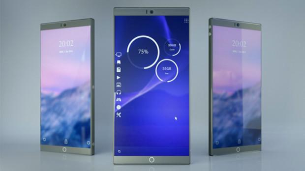 Symetium er telefonen uten kompromiss, og kan skifte sømløst mellom mobil- og PC-modus.