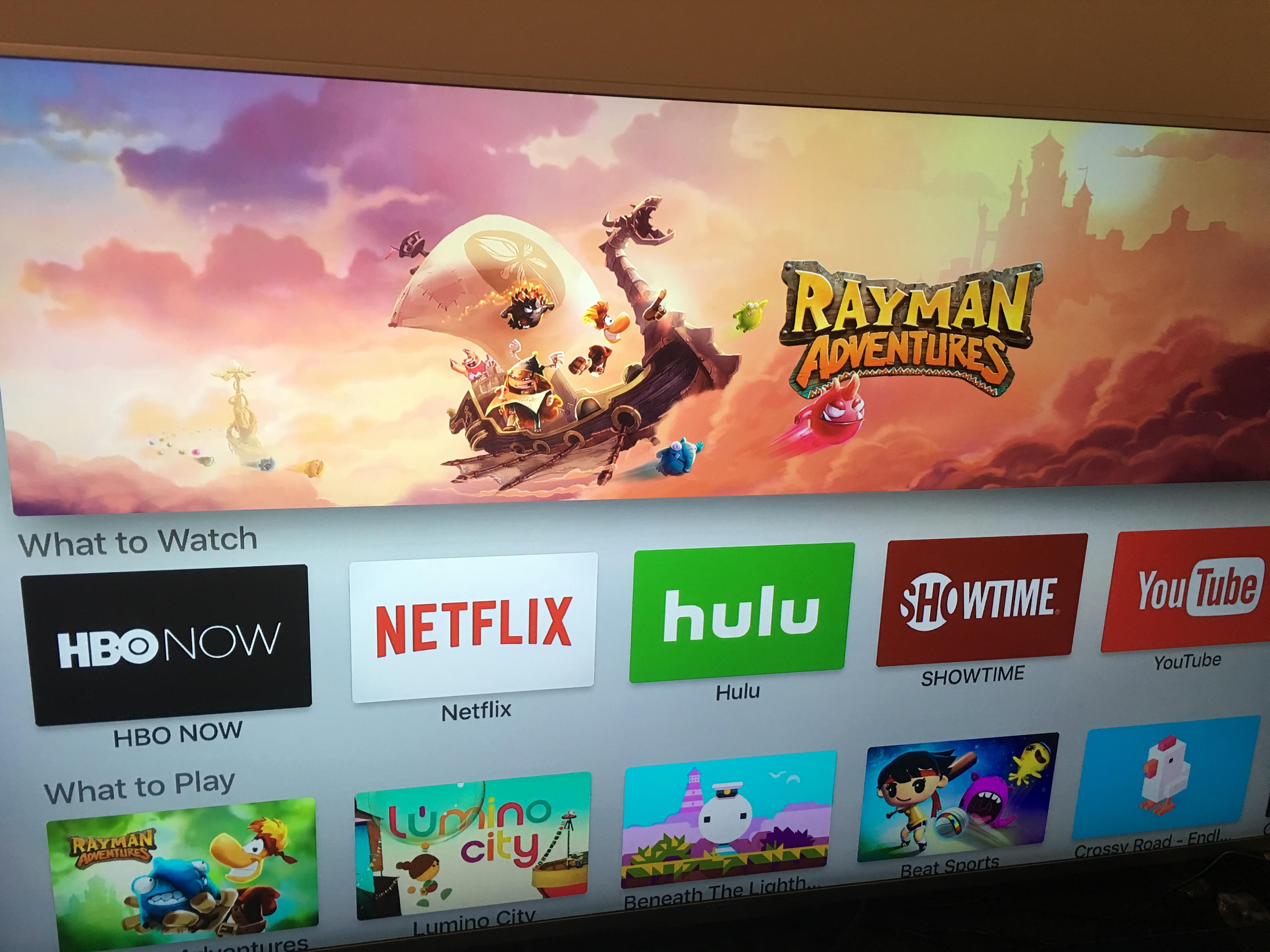 App-butikkens forside på nye Apple TV. Vi har ingenting å utsette på grensesnittet.