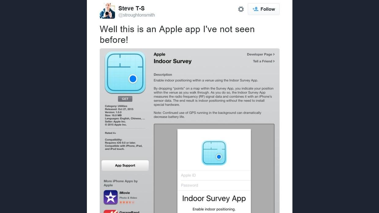 Dette er appen som skal åpne for sporing innendørs på iOS.