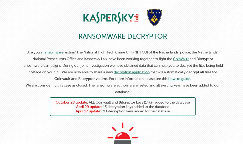 Nå kan du laste ned programvaren fra Kaspersky.