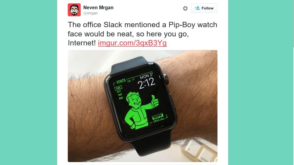 Er du Fallout-tilhenger, kan du vise det med en Pip-Boy på Apple Watch.