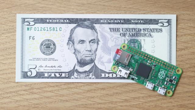 Raspberry Pi Zero er svært liten.