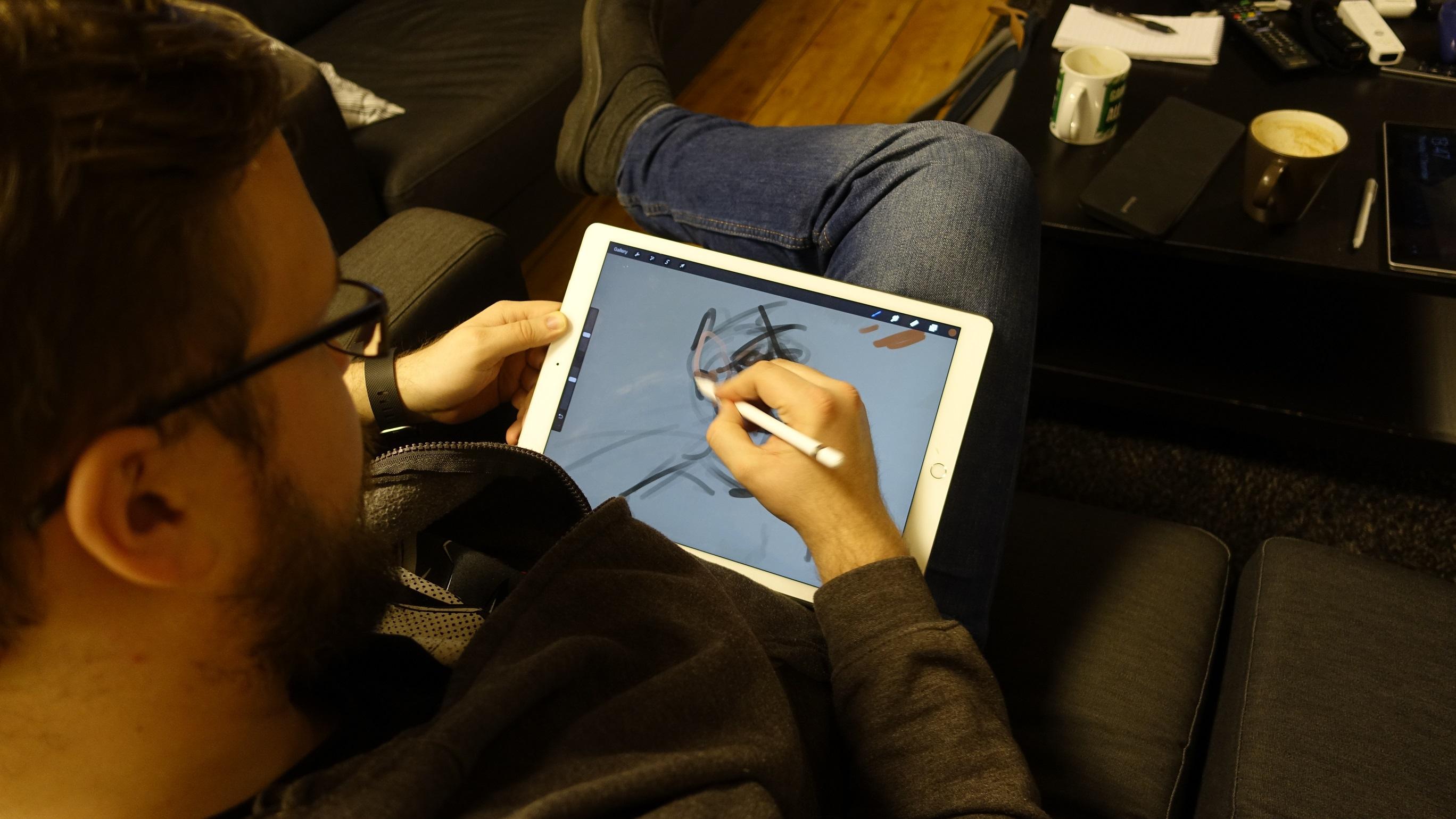 Jonny Ree var positivt overrasket over iPad Pro og Apple Pencil.