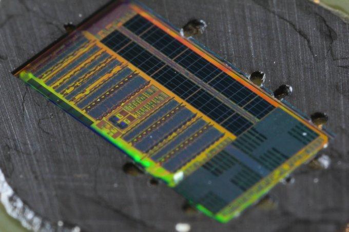 Slik ser den lysbaserte mikroprosessoren ut.