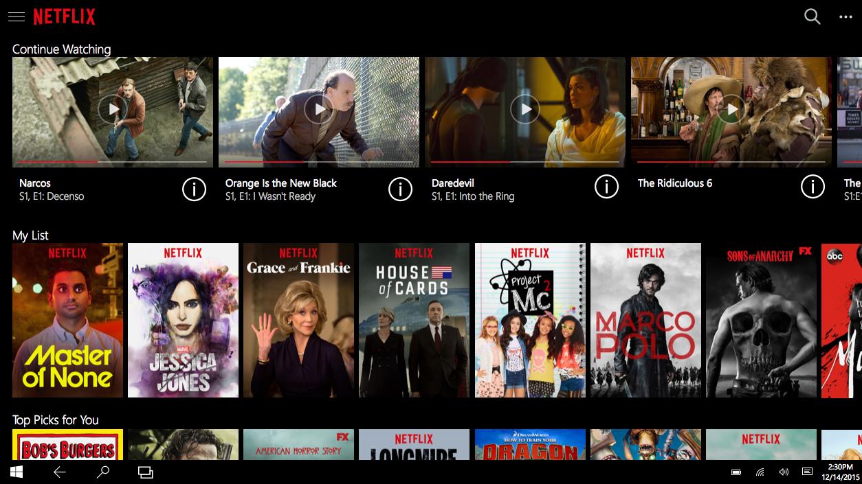 Windows 10 har fått en superversjon av Netflix.