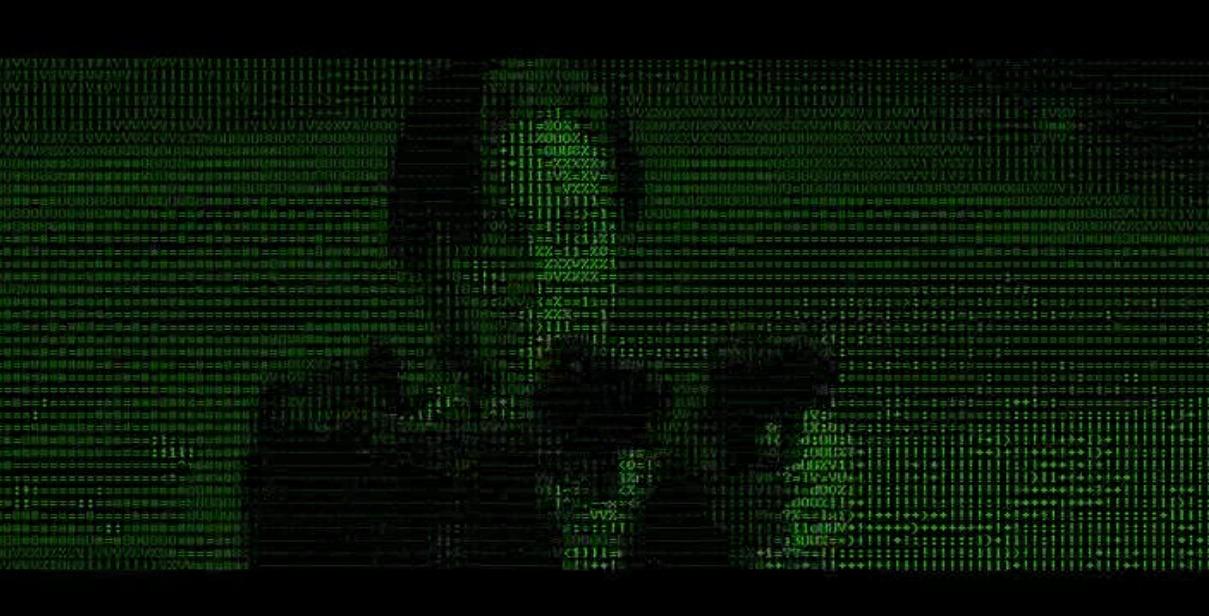 Skjermdump fra The Matrix ASCII