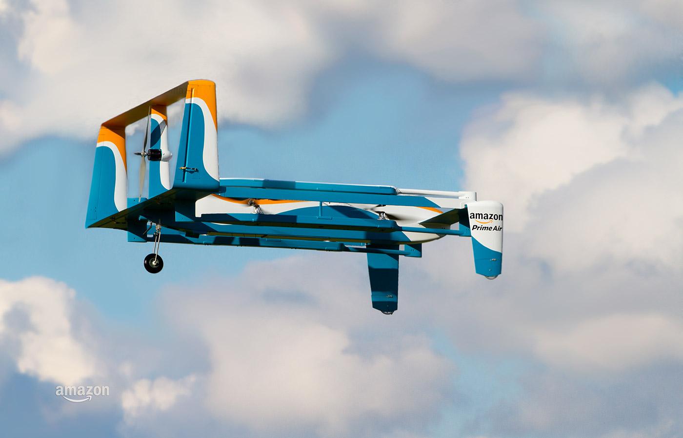 Amazon Prime Air Drone i aksjon.