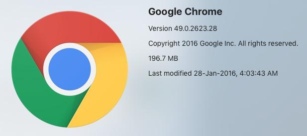 Skjermdump av nytt ikon for versjon 49.