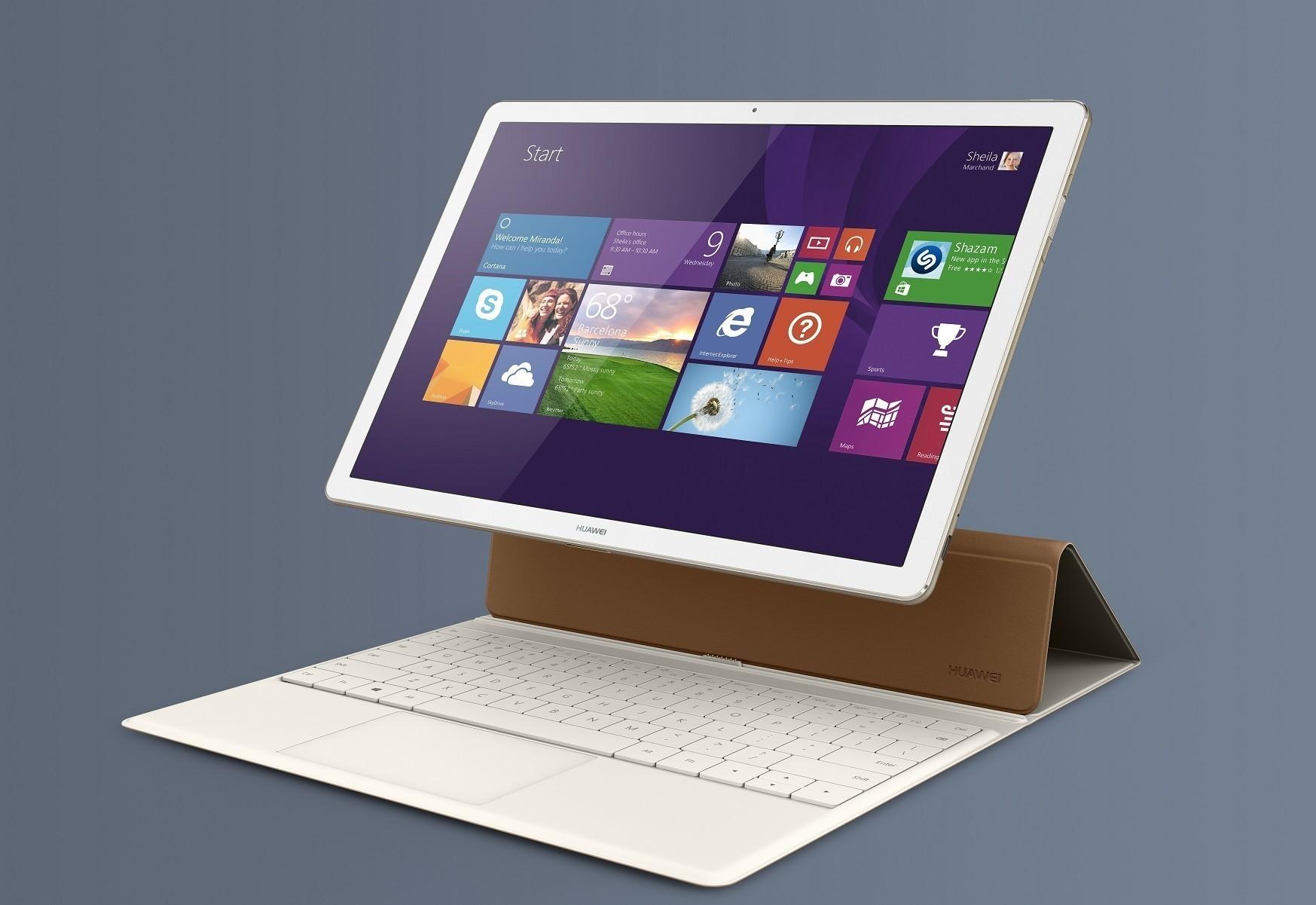 Matebook minner om en iPad Pro, den største og viktigste forskjellen er at den selvsagt kjører Windows 10.