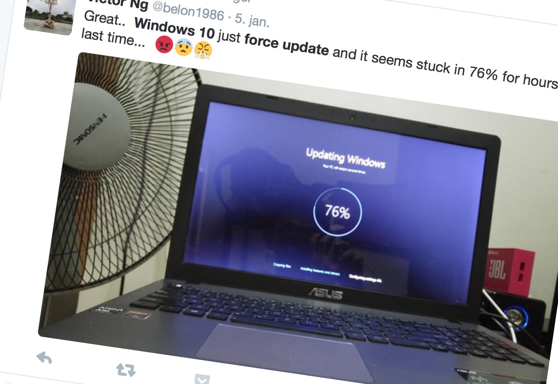 Microsoft har etter en ny oppdatering startet å auto-oppdatere Windows-maskiner til Windows 10.