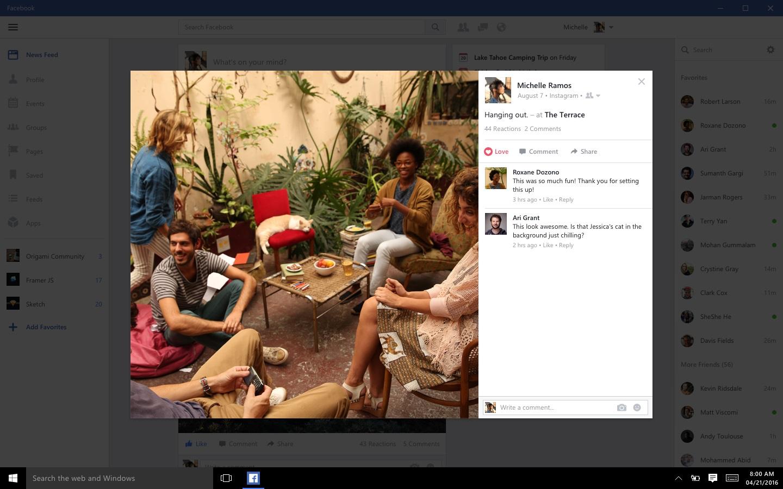 Facebook har endelig fått sine Window 10-apper.