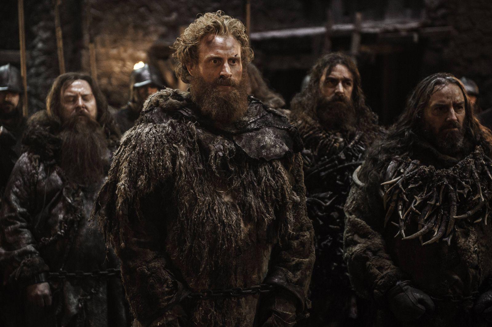 Nordmannen Kristofer Hivju i rollen som Tormund Giantsbane i kampen om jerntronen.