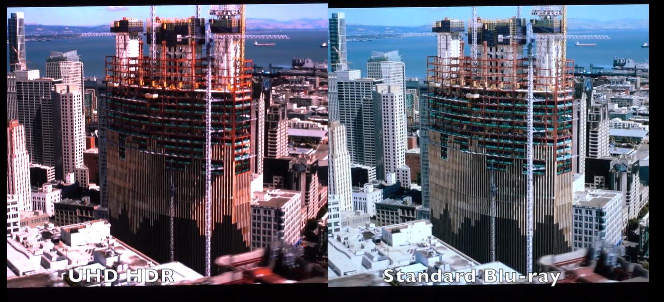 Her kan du se forskjellen på 4K HDR og standard Blu-ray.