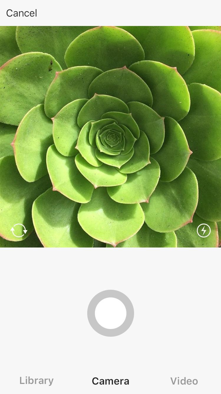 Kamera i Instagram.