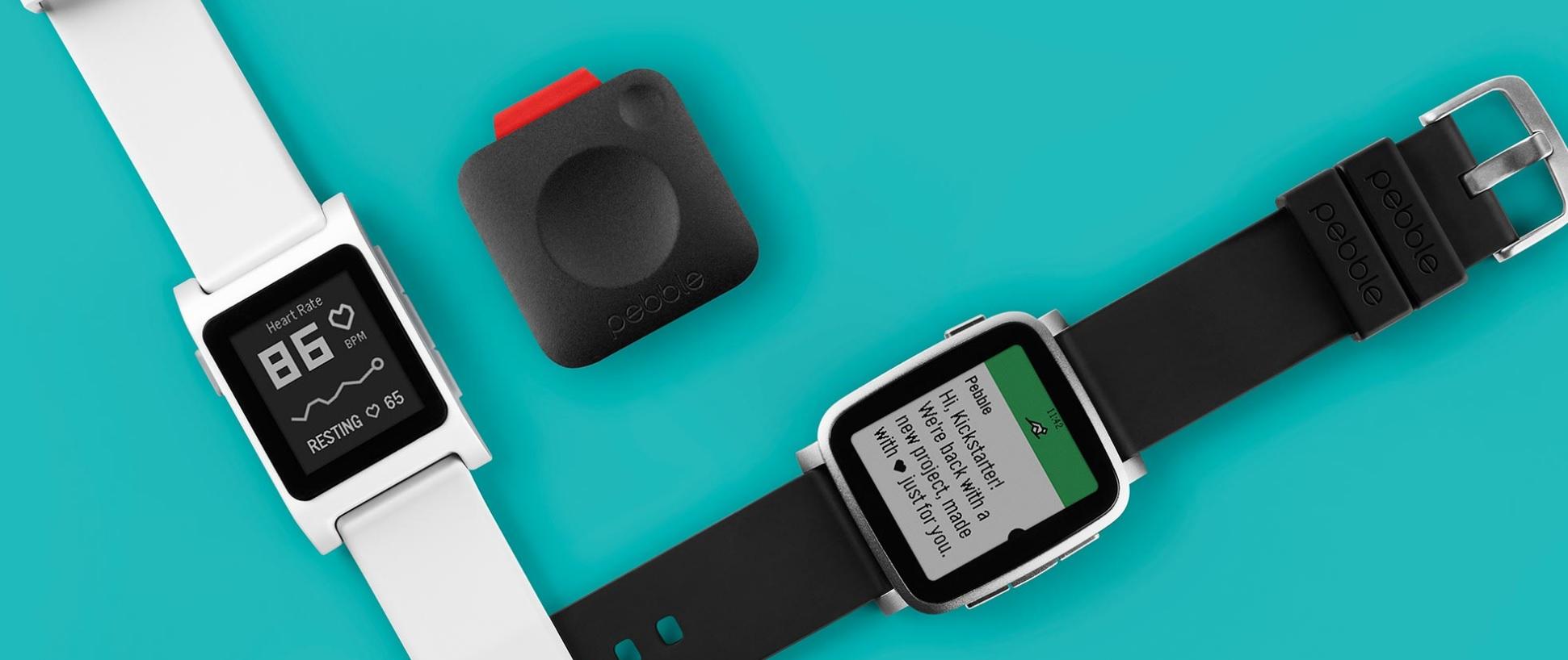 Pebble har vist frem sine to nye smartklokker og Core, en liten GPS-dings som gjør at du kan legge igjen mobilen hjemme.