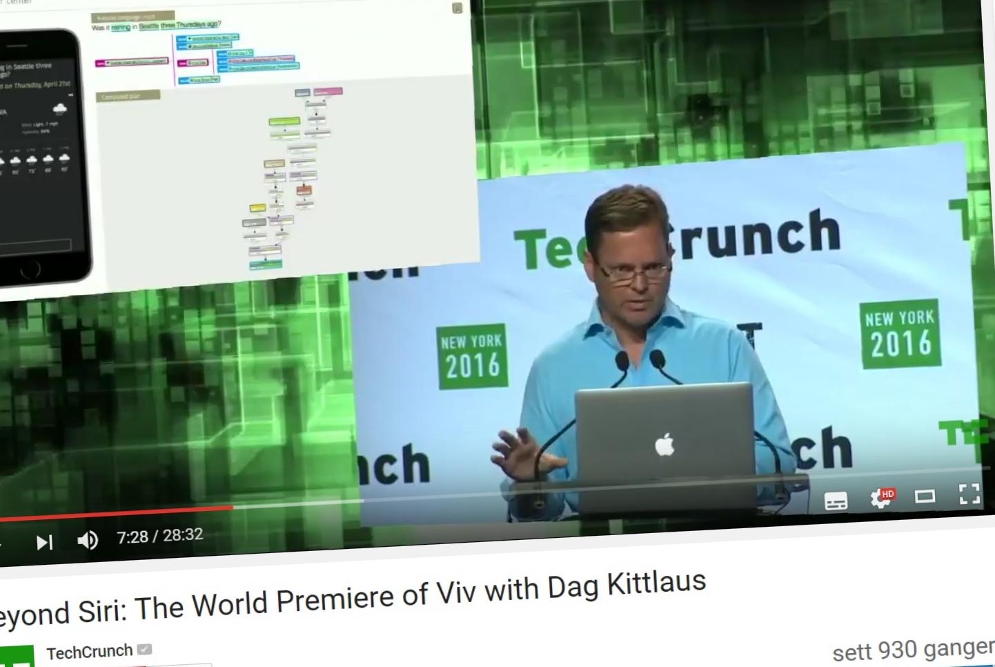 Dag Kittlaus kunne stolt demonstrere Viv på TechCrunch Disrupt i New York.