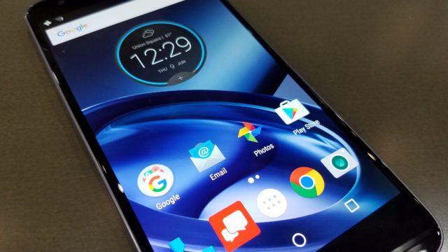 Motorolas Android-grensesnitt.
