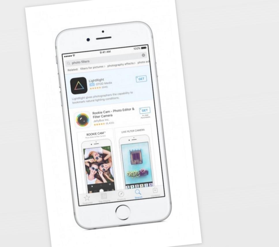 Slik blir reklamen seende ut i App Store.