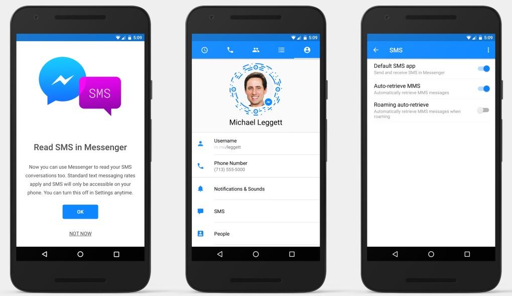 Facebook ruller igjen ut SMS-støtte i Messenger.