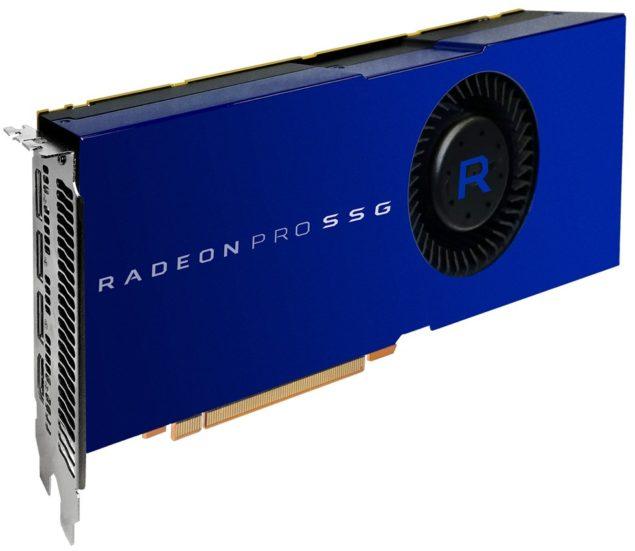 AMD Radeon Pro SSG har plass til SSD-lagring.