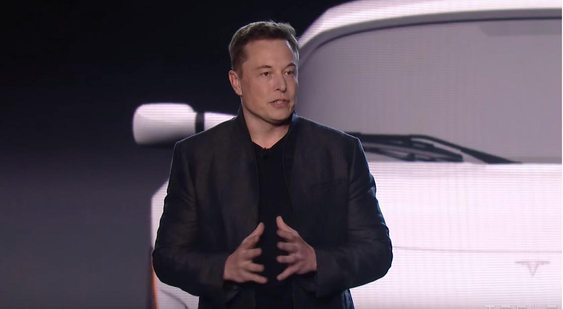 Elon Musk under lanseringen av Model 3 i mars.