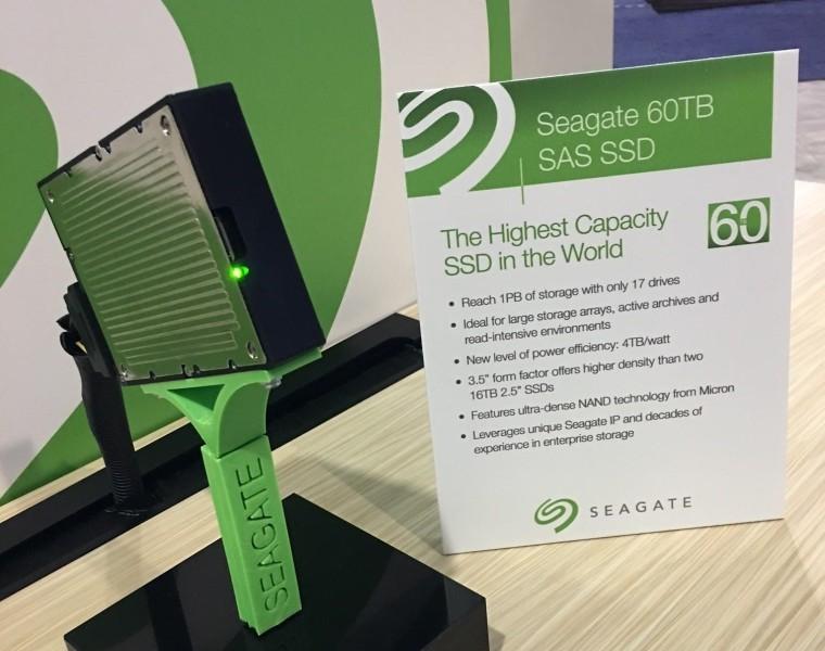 Seagates nye SSD har plass til 60 TB.