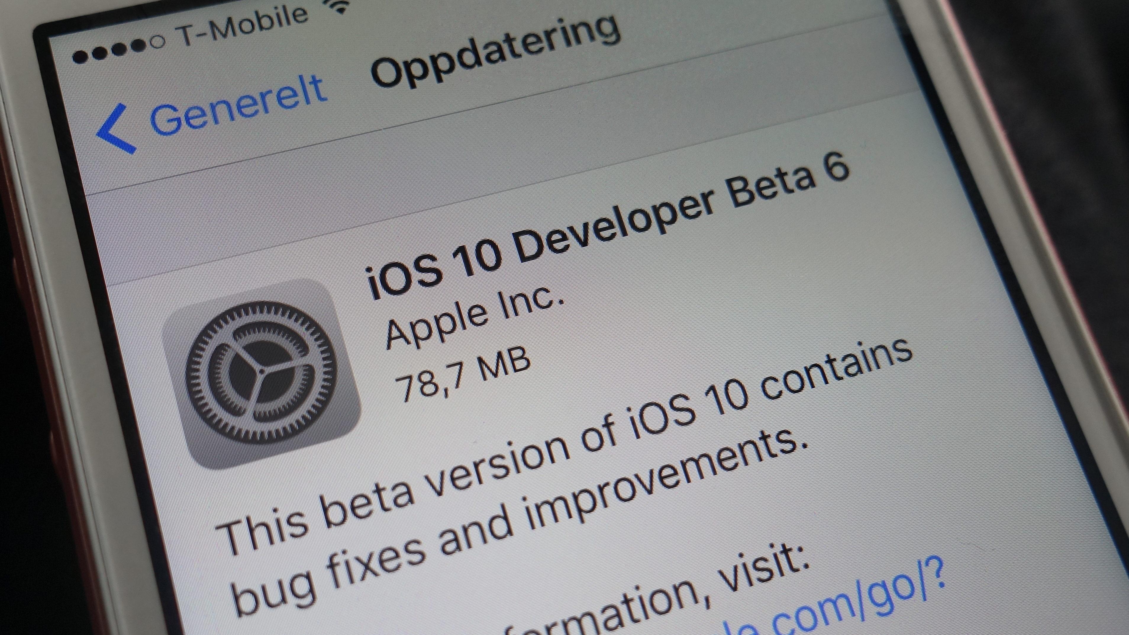 Apple pøser på med beta-versjoner før lanseringen av iPhone 7 tidlig neste måned.