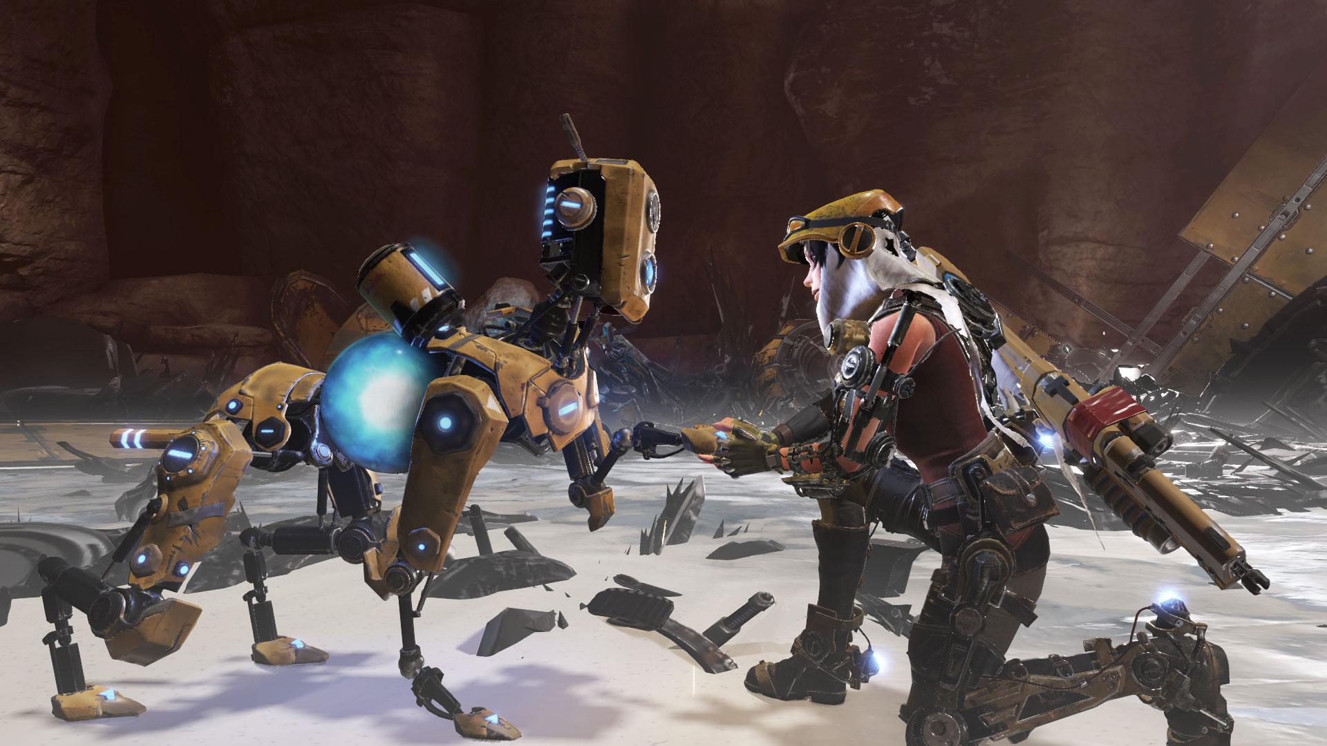Joule, Mack og de andre robothjelperne knytter et godt vennskap.