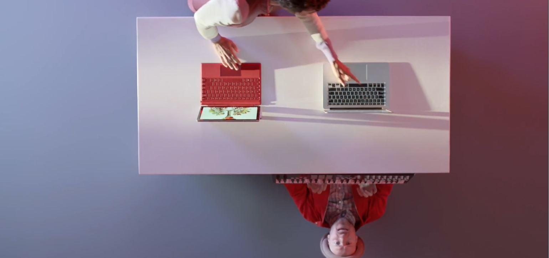 Microsoft jobber konkurrenten i en ny reklamesnutt.
