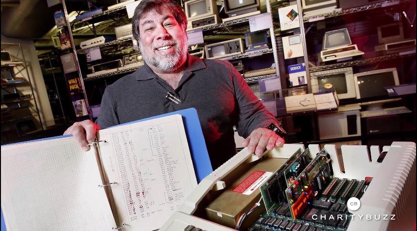 Steve Wozniak med en Apple I.