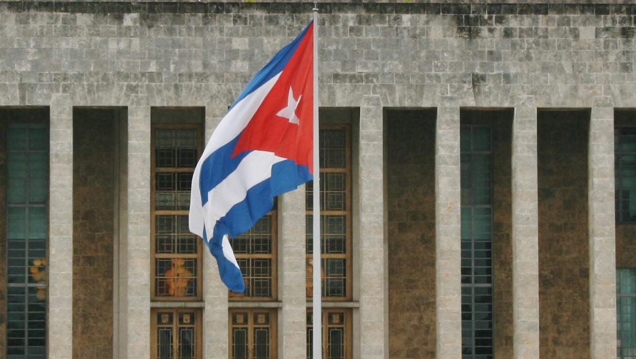 Utenfor hovedkvarteret til kommunistpartiet på Cuba.