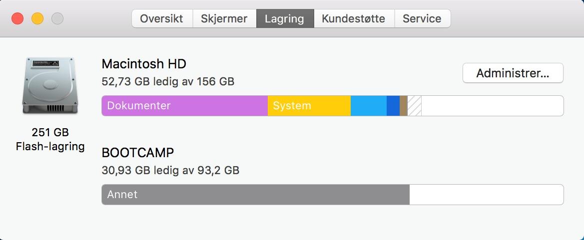 Frigir nyttig lagringsplass på Mac-en din.