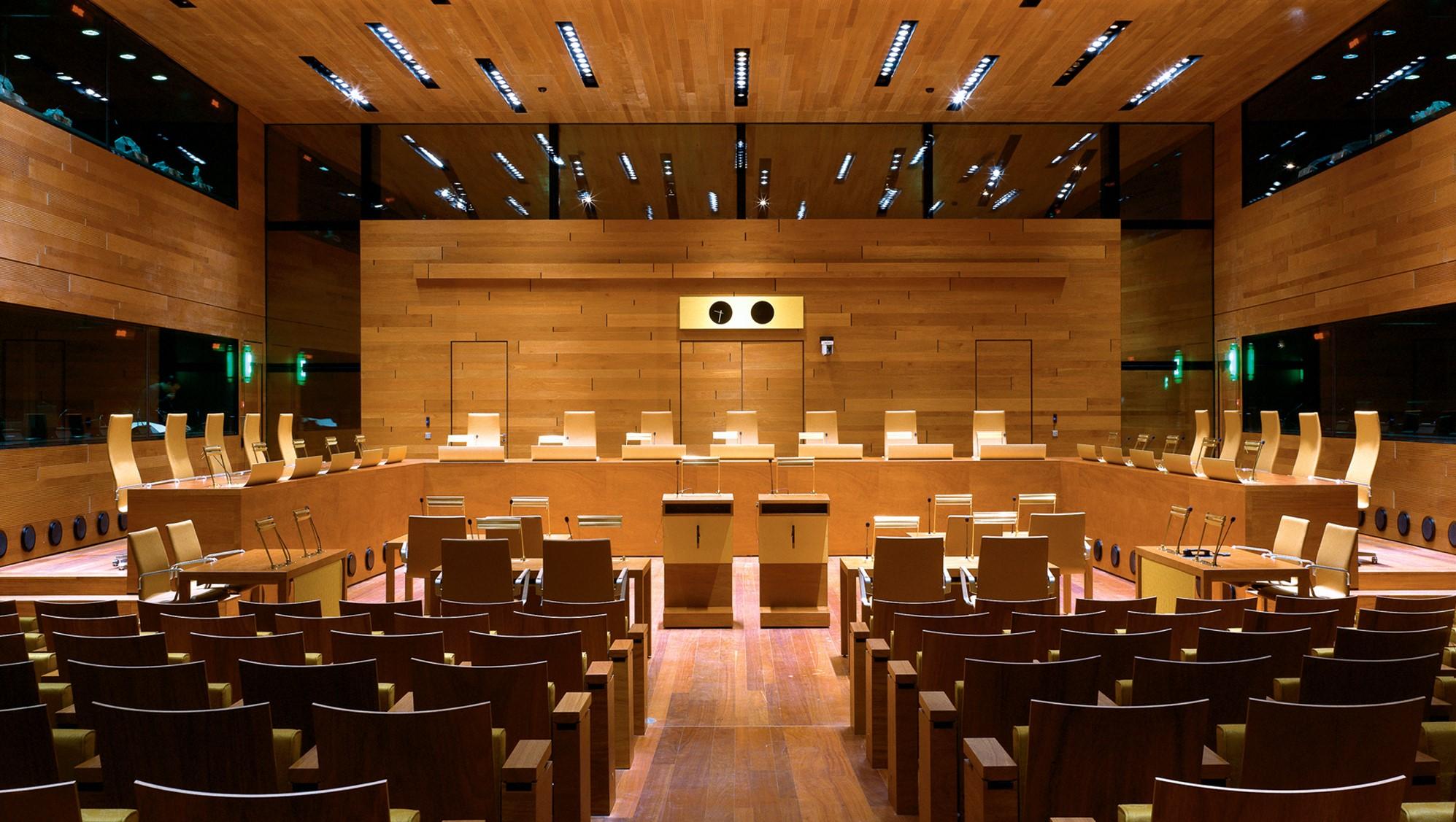 Illustrasjonsfoto: En av rettssalene i EU-domstolen i Luxembourg.