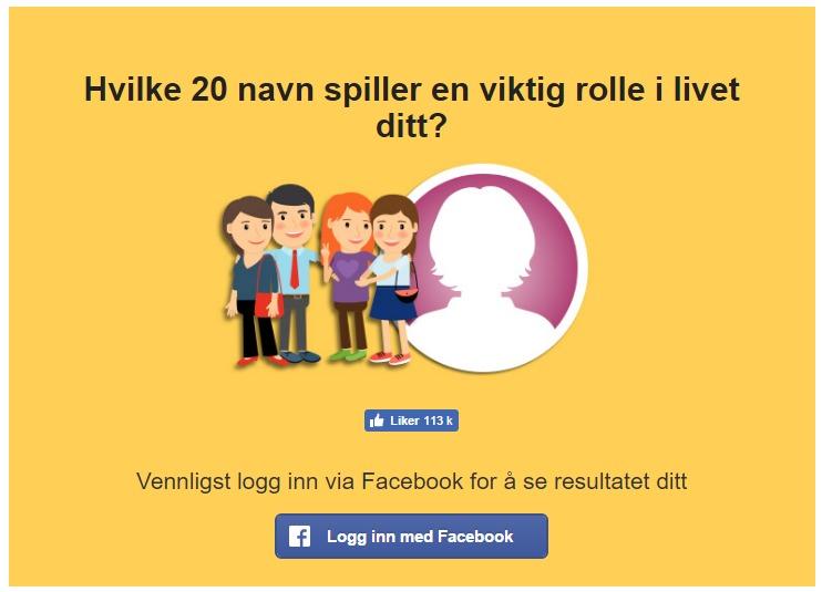 Du bør tenke igjennom at du deler endel informasjon når du tar Facebook-tester.