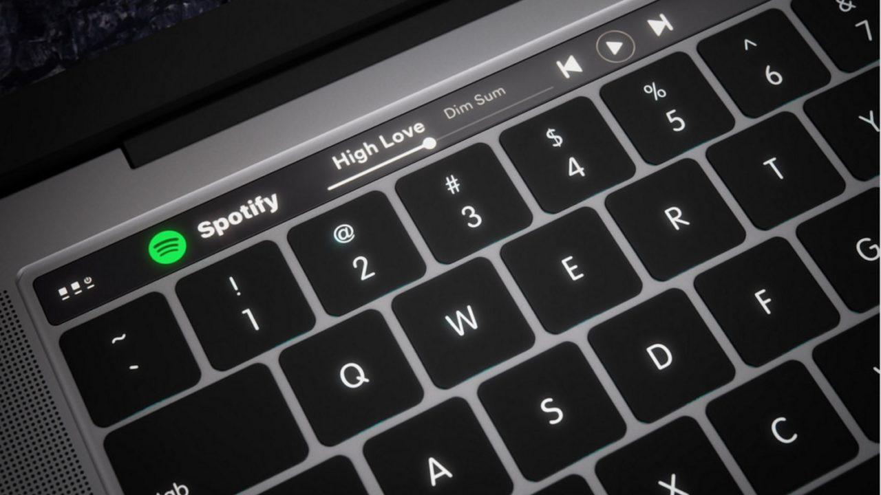 Dette er et konsept på MacBook med OLED-stripe som trolig kommer i år. I 2018 kan tastaturet bli helt endret.