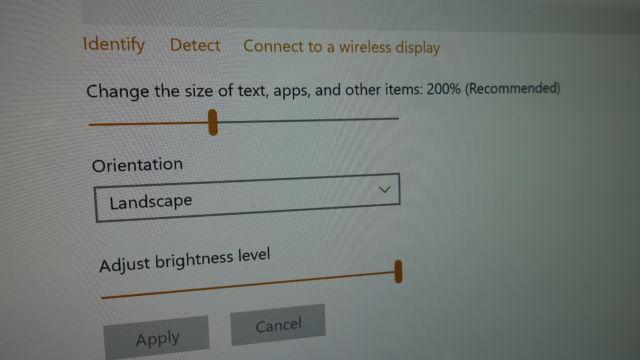 Standardinnstilling så man kan se tekst og objekter uten å myse.