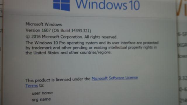 Windows 10-versjonen er faktisk den nyeste stabile. og ikke en Insider-versjon.