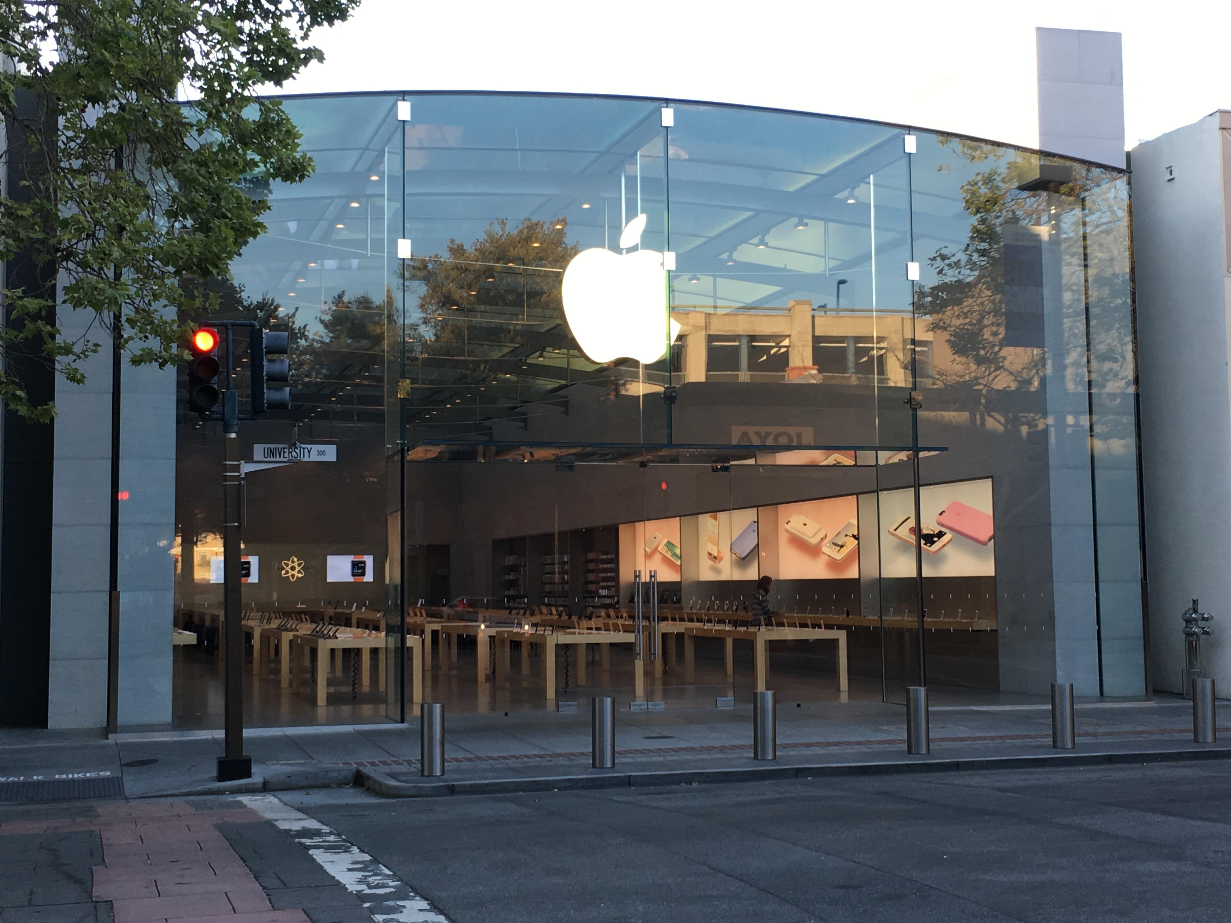 Apple Store-knuseren har fått sin straff. Dette er fra en annen Apple Store.