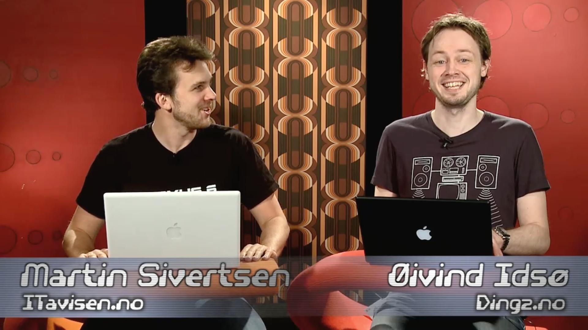 Martin Sivertsen og Øyvind Idsø (DinSide) - de to faste Klikk TV-ankrene.