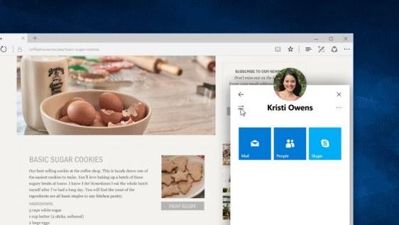 People Tab er en av nyhetene som kommer i Windows 10 Creators Update.