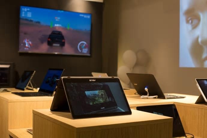 Dette er Microsofts sprett-opp-butikk på Aker Brygge.