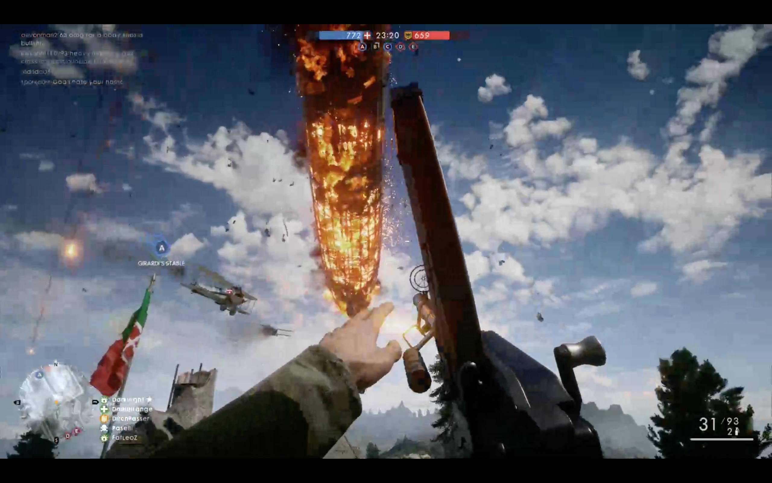 Det har vært mange ganske imponerende øyeblikk under våre 12 timer med Battlefield 1 sin flerspillerdel, men lite slo dette synet.