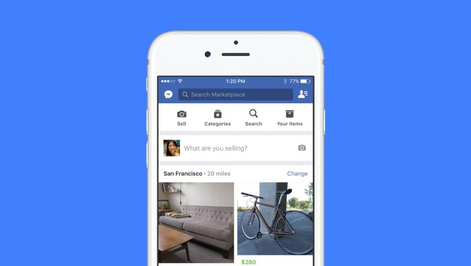 Facebook lanserer Marketplace.