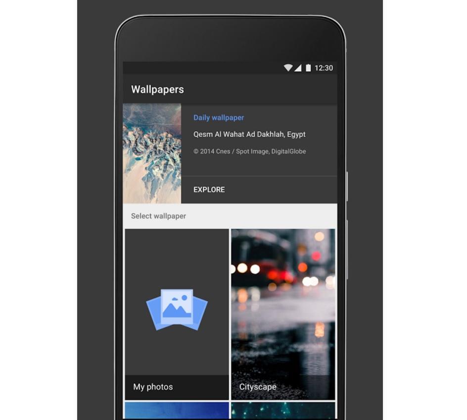 Dette er Google Bakgrunner til Android.