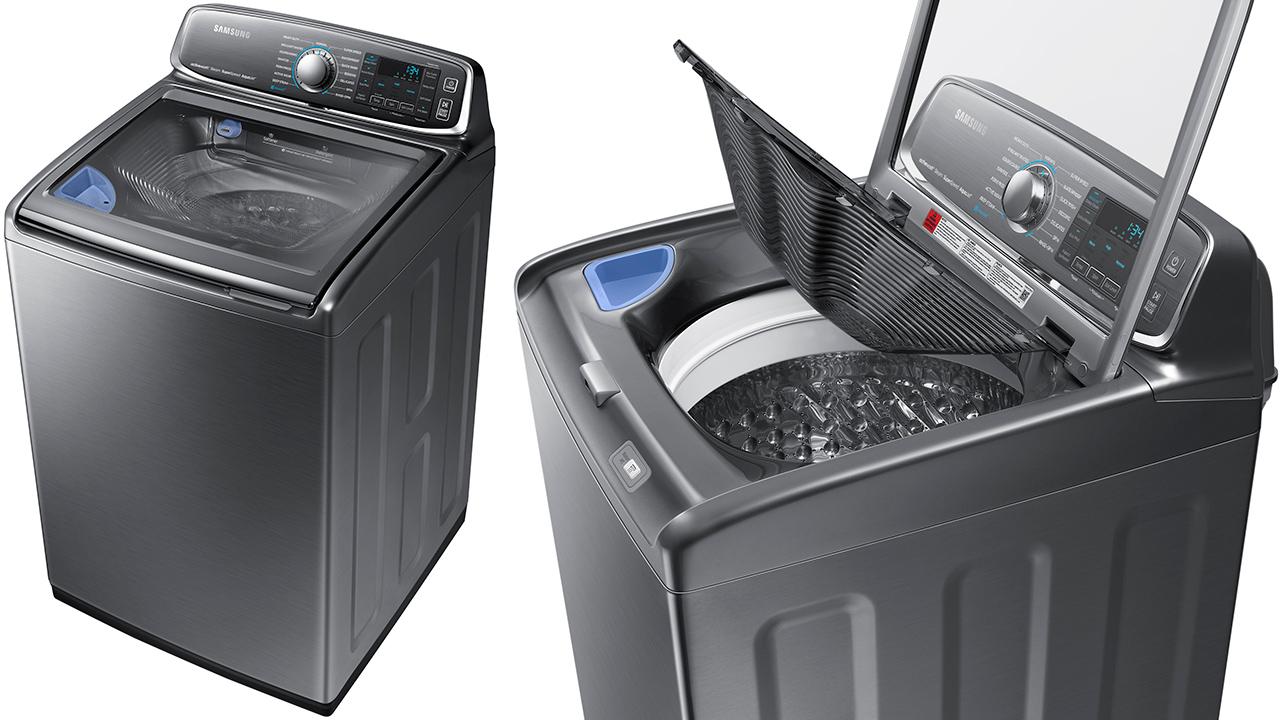 Samsung tilbakekaller 2,8 millioner vaskemaskiner ettersom toppen kan sprenge av. Det er uklart om den avbildede vaskemaskinen er påvirket.