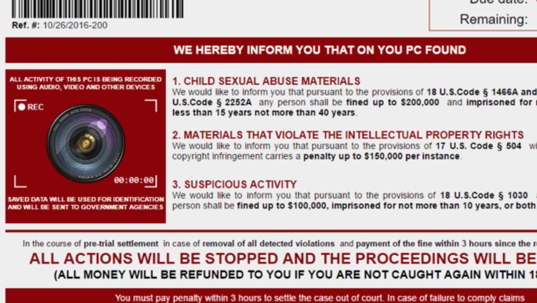 En ny type kidnappingsskadevare søker etter ulovlig innhold på offerets maskin for å presse for penger.