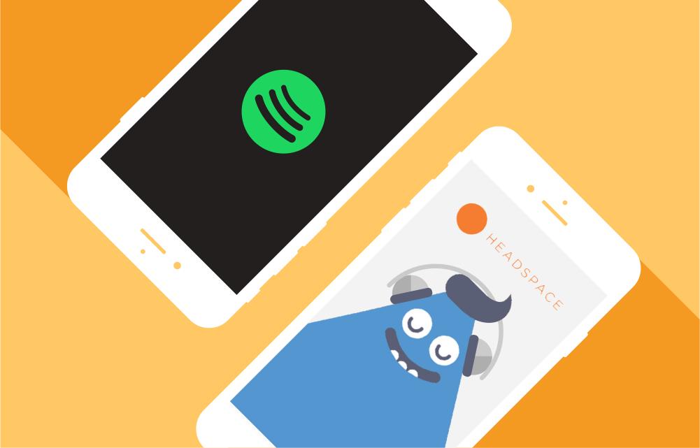 Spotify og Headspace inngår partnerskap.