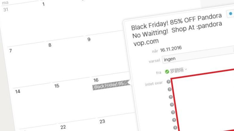 Den siste uken har det dukket opp flere søppeloppføringen i iCloud-kalenderen.