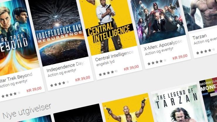 Snart kan du kjøpe og leie 4K-filmer i Google Play Store.